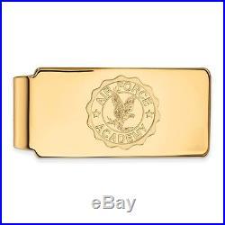 10k Yellow Gold LogoArt United States Air Force Academy (USAFA) Crest Money Clip