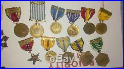 12 US Military Medals NAMED Army Air Force +2 RARE Chinese Order Cloud Banner