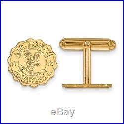 14k Yellow Gold LogoArt United States Air Force Academy (USAFA) Crest Cuff Link