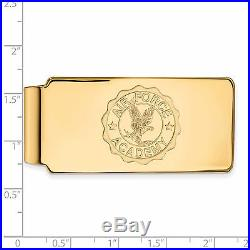 14k Yellow Gold LogoArt United States Air Force Academy (USAFA) Crest Money Clip