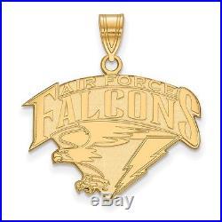 14k Yellow Gold LogoArt- United States Air Force Academy (USAFA) Large Pendant
