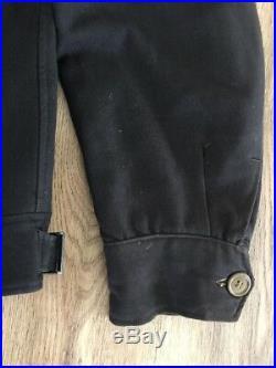 1940's Rare Black Gab Eisenhower Ike Jacket Sz 40R Army USAF Wool Gabardine