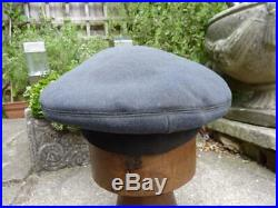 1944 WWII Royal Air Force RAF Officer's Peaked Cap / Hat & Economy Pattern Badge