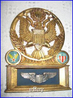 1947 US Air Force USAF ArmyCommemorative Original Plaque 24 karat gold plated