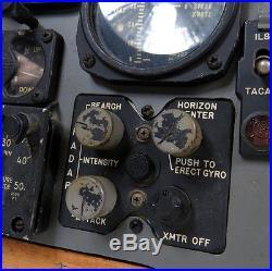 1950'S USAF F-86L SABRE JET FIGHTER INSTRUMENT PANEL + LEFT & RIGHT SUB PANELS