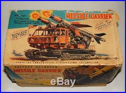 1950s JAPAN BATTERY OP USAF MISSILE CARRIER VEHICLE BEAUTIFUL WORKING IN BOX