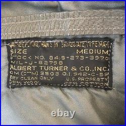 1950s USAF MA-1 Flight Jacket Albert Turner & Co Size Medium Rare Vintage Worn
