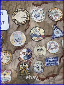 1950s Vietnam Era US Navy & Air Force Patch Lot Squadron, Submarine, Seabee