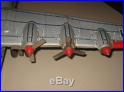 1950s YONEZAWA JAPAN B-36 CONVAIR TIN LITHO FRICTION USAF BOMBER AIRPLANE-NICE