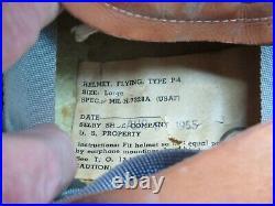 1955 USAF Pilot's Selby P-4 Flight Helmet & Sierra Eng. MS22001-8 Oxygen Mask
