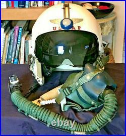 1960 USAF HGU-2/P Pilot's Helmet & Bag withO2 Mask & Commo Tagged Major Loisel