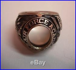 1962 US Air Force Academy 14k Class Ring Vietnam Falcon Red Tags Rare