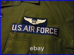 1964 Vietnam Us Air Force Colonel Ss Shirt Og107 Sateen- Goddard Director/c-info