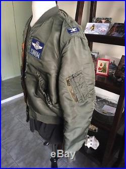 1965! Vietnam War USAF L2B FLIGHT JACKET US Air Force Mil. Uniform Sz Large