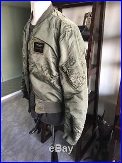 1969! Vietnam War USAF L2B FLIGHT JACKET US Air Force Mil. Uniform Sz Large