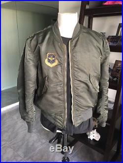 1973! Vietnam War USAF L2B FLIGHT JACKET US Air Force Mil. Uniform Sz Large