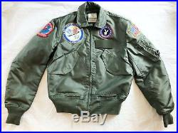 1997 Usaf Green Nomex Fire Resistant Summer Flyers Jacket Cwu-36/p Small