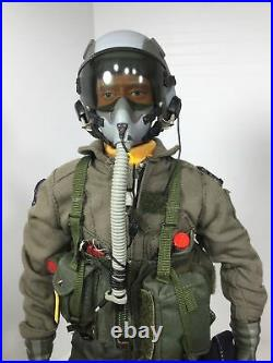 1/6 BBI USAF US AIR FORCE 524TH SQDN. F-16 FIGHTER PILOT WithBASE DID DRAGON 21 RC