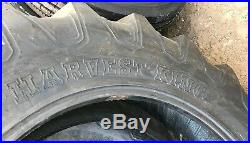 2 New Tires 13.6 38 Harvest King R-1 Tractor Rear 8 ply TT 13.6x38 USAF