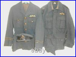 2ww RAF Royal Air Force F/LT cap tunic aircrew battledress and trousers 1943