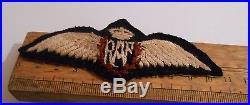 2ww RAF padded royal air force pilots brevet / wing B