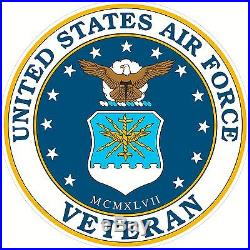 4 Round United States Air Force Veteran Window Decal Sticker