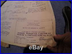 71 Pages USAF Wurtsmith AFB 300 Housing Unit Blueprints 1963