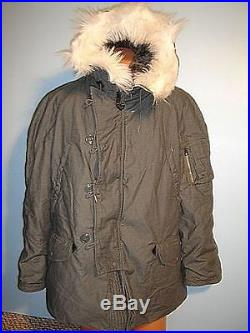 AIR FORCE USAF N-3B SMALL PARKA COLD WEATHER VINTAGE 1980-1989 GRADE A