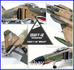 Academy 1/32 USAF F-4E Vietnam War Phantom Aircraft Plastic model kit #12133