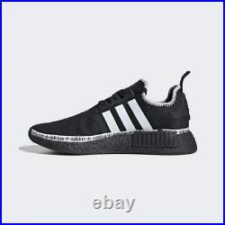 Adidas NMD R1 Oreo Logo Strip Gym Shoes Core Black White Boost FV8729 Size 14