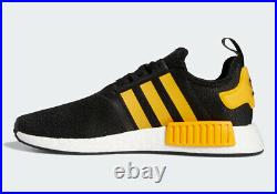 Adidas Originals NMD R1 Core Casual Shoes Black Yellow Gym Fun FY9382 Size 13