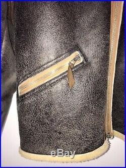 Aero Leather Clothing D1 sheepskin flying Jacket USAF USAAF WW2 Size 38/40