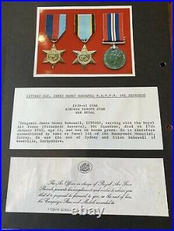 Air Crew Europe Star Casualty Medal Group RAF 101 Squadron Raid on Berlin