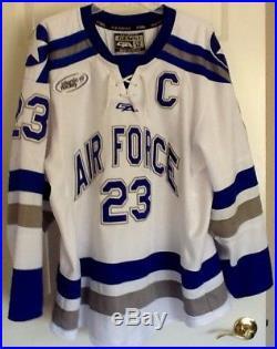 Air Force Academy Falcons Game Worn Hockey Jersey 2016-17 Dylan Abood  Gemini 52 addb34fb91e