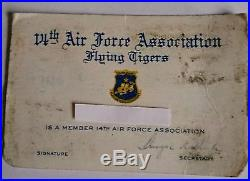 Air Force WWII LOT 14th Div FLYING TIGERS RARE Pieces 10K PINS, Cuff, Patches
