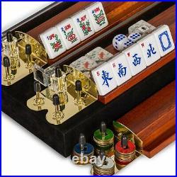 American Mahjong Set, Koi Fish with Wooden Case