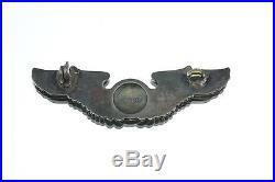 Antique WW2 World War 2 Air Force Sterling Silver Navigator Aviator Wings Badge