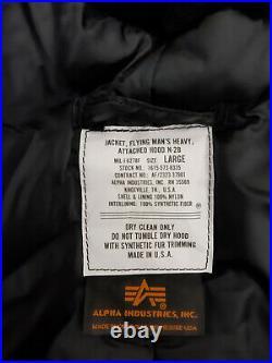 Army Jacket Alpha Industries N2B Parka Military Coat US Air Force Flight Bomber