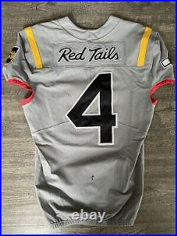 Authentic Game Worn 2020 USAF Air Force Falcons QB #4 Red Tails Jersey Nike RARE