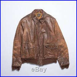 Authentic WWII U. S. Army Air Force A-2 Leather Jacket 389th Fighter Squadron