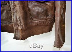 Authentic leather flight jacket A2 Original WWII US Air Force