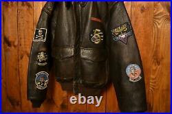 Avirex Ltd A-2 Ww2 Us Air Force Bomber Pilot Vintage Biker Leather Jacket 44-l