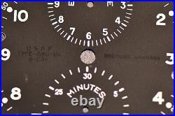 BREITLING Wakmann ABU /1A Borduhr aircraft cockpit clock from USAF aircraft