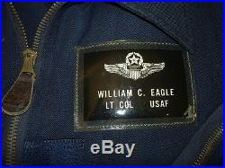 Beautiful 1950's USAF Blue Wool L-1A Flight Suit, Wing Commander WithInsignia