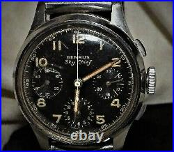 Benrus Sky Chief Pilots 1940, S Chronograph Air Force Watch For A Nhs Nurse Fund