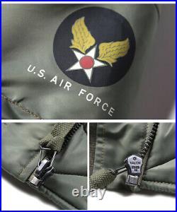 Bronson USAF 1955 MA-1 Flight Jacket Air Force Men Waterproof Bomber Coat Green