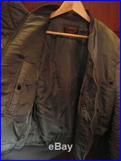 Buzz Rickson Type MA-1 USAF Flight Jacket Large Rockabilly Ska