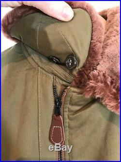 Buzz Rickson USAF B-15 Roughwear 1944 Pile Lined Wool Collar Flight Jacket 42