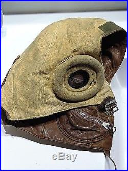 CANADA WW2 RCAF Royal Canadian Air Force Fighter Pilot Flight Cap helmet