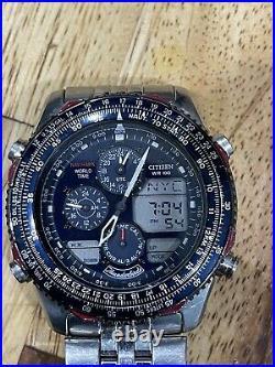 Citizen Navihawk Thunderbirds Chrono Watch C300 Air Force USAF